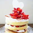 【結婚式二次会&1.5次会特典】プチウェディングケーキ手配無料