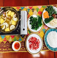牛肉とパイナップルの鍋