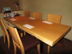 1階【白妙】半個室テーブル席。