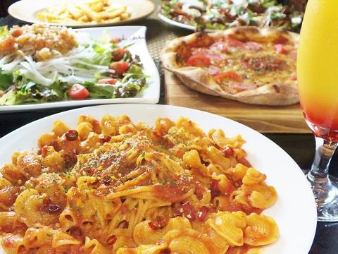 生地からソースまで全て手作りのピザやオリジナルパスタが人気★女子会、宴会に◎!