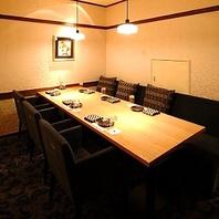 当店人気NO1の優雅な個室。他にも様々な少人数個室有!