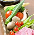 料理メニュー写真新鮮野菜たっぷり7種 バーニャカウダ