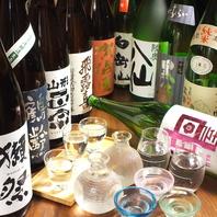 3種の利き酒セットが大人気。旬素材の和食と共に