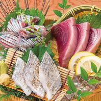 ■旬の鮮魚三点盛り(さんま・戻りかつお・本日の白身)