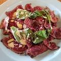 料理メニュー写真牛フィレ肉のカルパッチョ 2種ソース