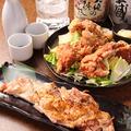 料理メニュー写真若鶏唐揚げ、チキンステーキ