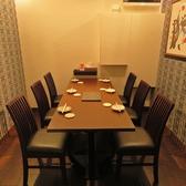 洒落の効いた個室では、最大6名様までのご利用が可能です。デートや大事な席に是非ご利用ください。
