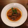 料理メニュー写真豚ロース肉のトマト煮込み(グーラッシュ)