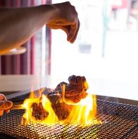 備長炭じっくりで焼く、肉!野菜!