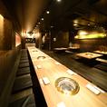 【簾で仕切られた半個室席(20名様~)】刈谷駅近くでの大人数様でのご宴会はお任せ下さい。最大60名様までご利用可能です♪貸切のご相談も承ります。
