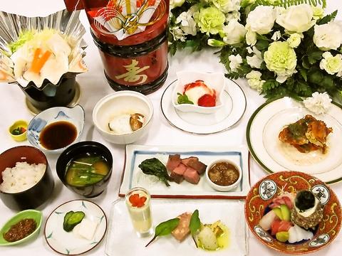 会席から洋食まで地産地消、産地直送にこだわった料理。厳選食材をふんだんに使用!