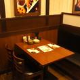 片側ソファータイプのテーブル席。ご家族でのご利用も◎