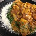 料理メニュー写真生パスタ♪パンツェッタのラグーソースのパッパルデッレ