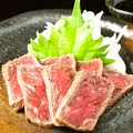 料理メニュー写真牛タリアータ/牛たたき