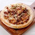 料理メニュー写真 肉ピザ プルコギチーズ