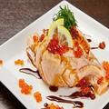 料理メニュー写真大トロサーモン炙り寿司