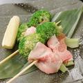 料理メニュー写真ブロッコリー×豚バラ巻き串