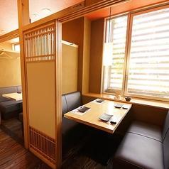 酒湊3階ソファ席の個室のお席です。
