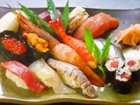 おすすめ握り寿司でその日の旬を味わう