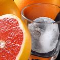丸氷の生搾りグレープフルーツサワーは一度味わいたい一杯♪
