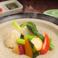 料理メニュー写真国産野菜の蒸しあげ