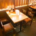 【3名様~4名様用のテーブル席】少人数のご宴会にオススメ!
