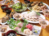 2H飲放付8品宴会コース4500円(税込)