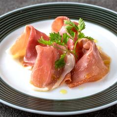 料理メニュー写真イタリア産プロシュート