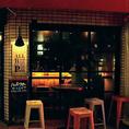 外にはテラス席も完備。店内とはまた違った雰囲気でお食事をお楽しみいただけます♪喫煙可能!