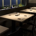 女子会や会社宴会など、幅広くご利用いただけるテーブル席です。