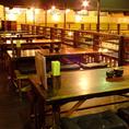見晴らしの良いテーブル席★つなげて宴会30名様まで◎