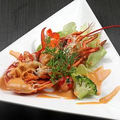 料理メニュー写真オマール海老のグリル アメリケーヌソース