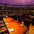 地上200メートルからの夜景は圧巻!【汐留で居酒屋・蟹・海鮮・和食のお店をお探しなら北海道へ】