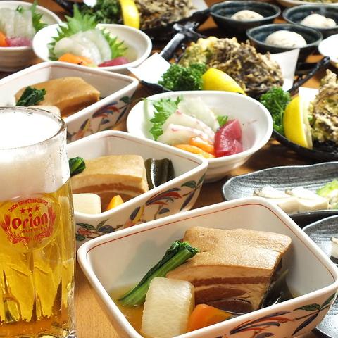 昔ながらの沖縄家庭料理はもちろん、いろいろなアレンジのお料理が楽しめます★