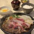 料理メニュー写真国産牛すき焼き定食