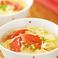 料理メニュー写真トマトと玉子スープ