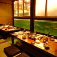 家族の御祝いや行事にぴったりの大人気『水族館個室』は最大18名様迄◎