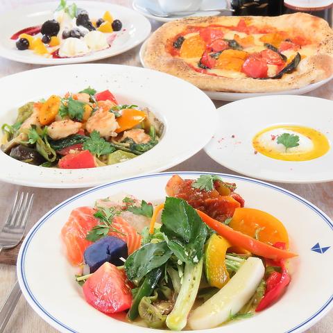 【女子会&デートに】野菜たっぷりで嬉しい!◆全6品『女子会パーティーコース』2970円(税込)