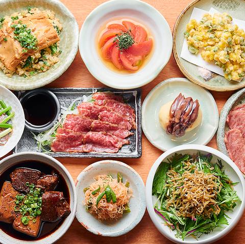 【全11種】看板メニューの「黒毛和牛肉豆腐」が入った当店自慢の3000円コース!!