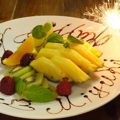 料理メニュー写真誕生日プレート