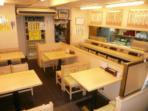 しっかりお食事ができる天ぷら専門店 ご家族連れでも楽しめる明るい雰囲気が自慢です
