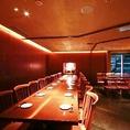 テーブル席最大30名様収容の完全個室。新宿で歓迎会やご接待、同窓会などの大人数での宴会の際には是非ご活用ください。新宿駅から最短で徒歩1分とアクセスも抜群!大人数での宴会の際にも完全個室のお席ですので他のお客様を気にされることなく各種宴会をお楽しみ頂けます。