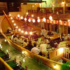 船貸し切り→30~40名様で宴会コース予約で貸し切りできます。