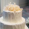 記念日には花束やケーキをご用意します♪