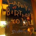 誕生日のサプライズメッセージをお書きします♪もちろんご要望があればお客様にも書き込んでいただくことも大歓迎♪