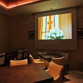 大型スクリーンを設備。結婚2次会や各イベントにご利用下さい。