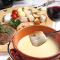 料理メニュー写真サーロインステーキのチーズフォンデュ