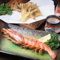 料理メニュー写真エビの丸ごと素揚げ・まいたけの天ぷら