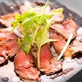 料理メニュー写真馬肉カルパッチョ
