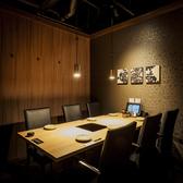 6名掛けのテーブル個室。